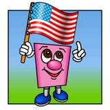 Olhe-o é a bandeira dos E.U.! Imagens de Stock Royalty Free
