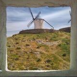 Olhe o moinho de vento Fotos de Stock Royalty Free