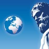 Olhe o mundo (o vetor) Fotografia de Stock