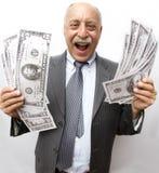 Olhe todo meu dinheiro! Imagem de Stock