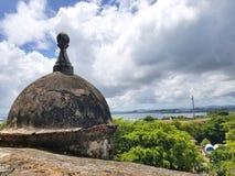 Olhe a torre no castelo do EL Morro em San Juan velho, Porto Rico Foto de Stock