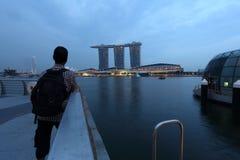 Olhe a vista Marina Bay Sands Singapore Imagens de Stock