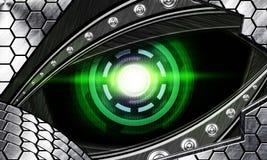 Olho abstrato do robô Foto de Stock Royalty Free
