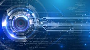 Olho abstrato futurista do cyber Imagens de Stock Royalty Free