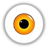 Olho amarelo ilustração stock
