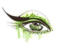 Olho bonito da mulher ilustração stock