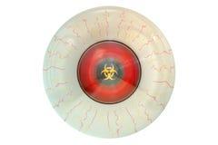 Olho com símbolo do biohazard ilustração do vetor