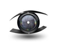 Olho da câmera Fotografia de Stock