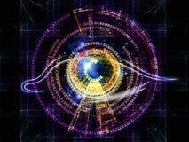 Olho da inteligência artificial ilustração royalty free