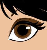 Olho da mulher ilustração do vetor