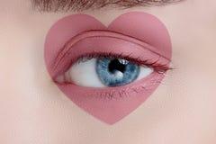 Olho da mulher com composição bonita Imagens de Stock Royalty Free