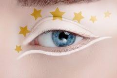 Olho da mulher com composição bonita Fotos de Stock Royalty Free