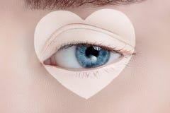 Olho da mulher com composição bonita Foto de Stock