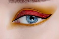 Olho da mulher com composição bonita Fotos de Stock