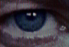 Olho da televisão Fotografia de Stock