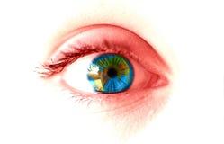 Olho da terra Fotografia de Stock