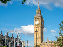 Olho de Ben grande e de Londres Foto de Stock