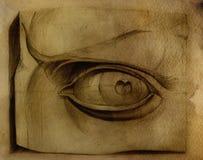 Olho de David. Desenho ilustração stock