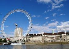 Olho de Londres & condado salão Fotografia de Stock