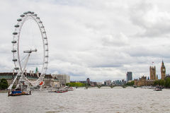 Olho de Londres e ben grande Fotografia de Stock Royalty Free