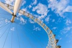 Olho de Londres, em fevereiro de 2014 fotos de stock royalty free