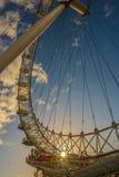 Olho de Londres, em fevereiro de 2014 foto de stock