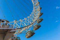Olho de Londres, em fevereiro de 2014 foto de stock royalty free