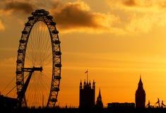 Olho de Londres em Londres Imagens de Stock