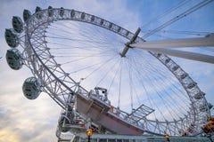 Olho de Londres em Londres Fotografia de Stock Royalty Free