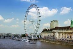 Olho de Londres, 443 ft de altura Imagem de Stock