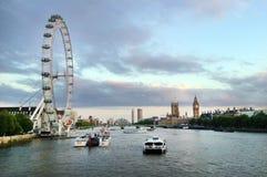 Olho de Londres - Londres Reino Unido Fotos de Stock
