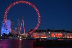 Olho de Londres na noite Foto de Stock