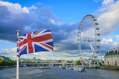 Olho de Londres no rio Tamisa, Londres Foto de Stock Royalty Free