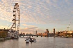Olho de Tamisa Londres do rio Fotos de Stock