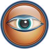 Olho do botão/ícone Imagens de Stock