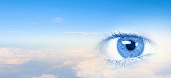 Olho do céu fotografia de stock