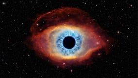 Olho do deus na hélice da nebulosa ilustração stock