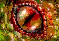 Olho do dragão da arte do pixel Imagens de Stock Royalty Free