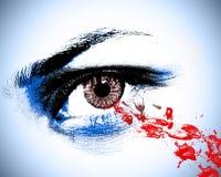Olho do ponto de sangue Fotografia de Stock
