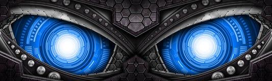 Olho do robô ilustração stock