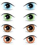 Olho dos desenhos animados. Jogo do vetor Foto de Stock