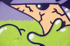 Olho dos grafittis na rua Imagem de Stock