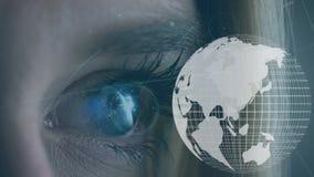 Olho e um globo ilustração royalty free