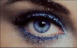 Olho fêmea ilustração stock