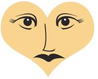 Olho - fundo do amor Imagem de Stock