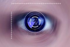 Olho humano azul intenso, macro Imagem de Stock