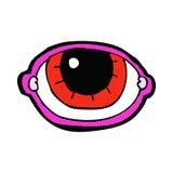 olho olhando fixamente dos desenhos animados cômicos Imagens de Stock Royalty Free