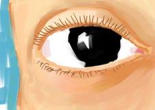 Olho pintado ilustração stock