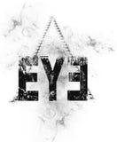 Olho projetado do texto com fundo da pirâmide ilustração royalty free