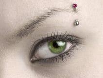 Olho verde da mulher Fotos de Stock Royalty Free